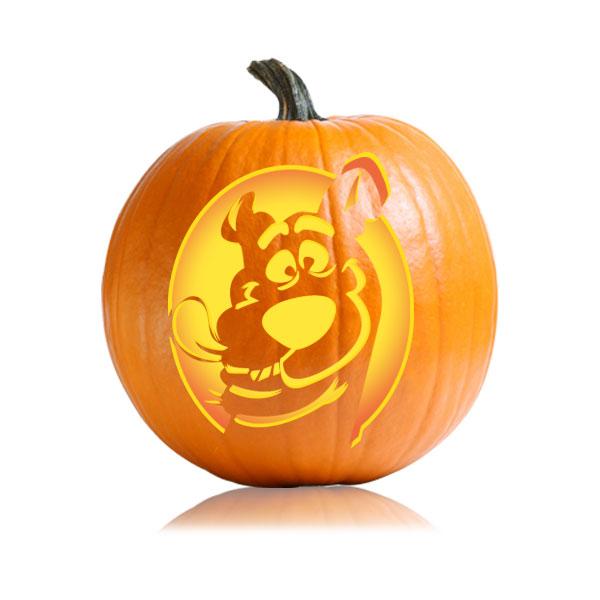 Scooby Doo Pumpkin Stencil