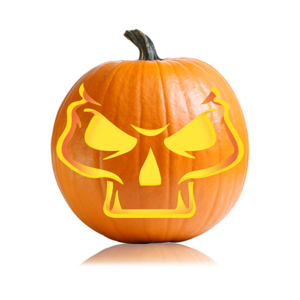 Skull Cheeks Pumpkin Pattern