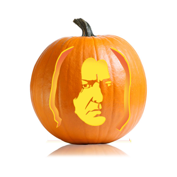 Severus Snape Pumpkin Stencil