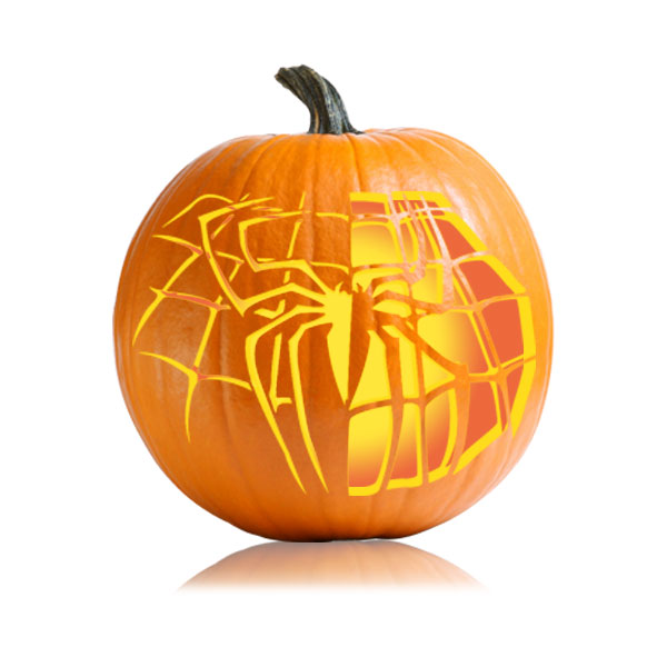 Spidermans Spider Web Pumpkin Template