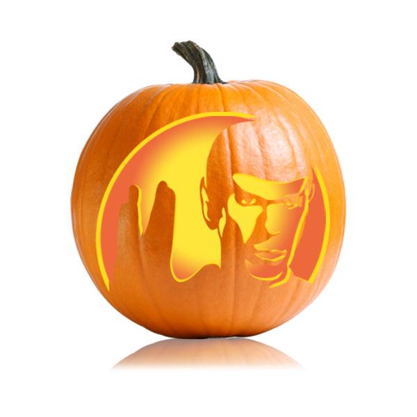 Spock Pumpkin Carving Stencil