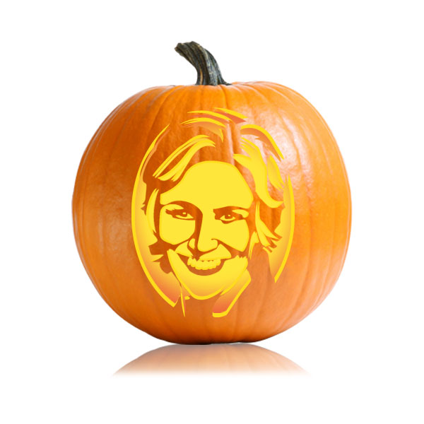 Sue Sylvester Pumpkin Stencil