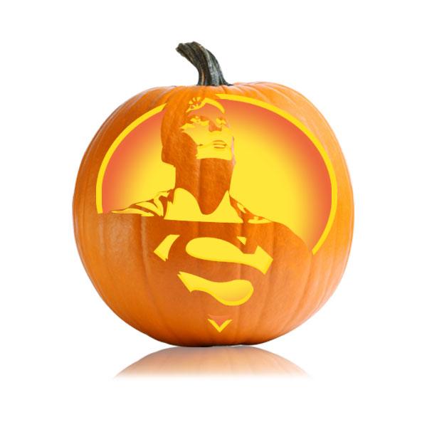 Superman Pumpkin Stencil