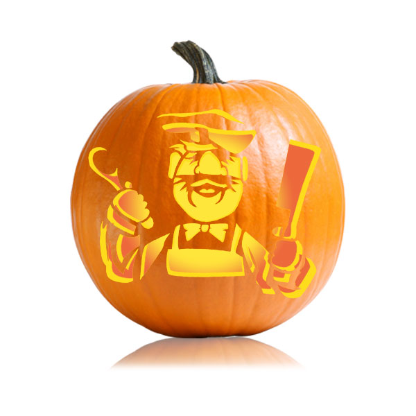 Swedish Chef Pumpkin Carving Pattern
