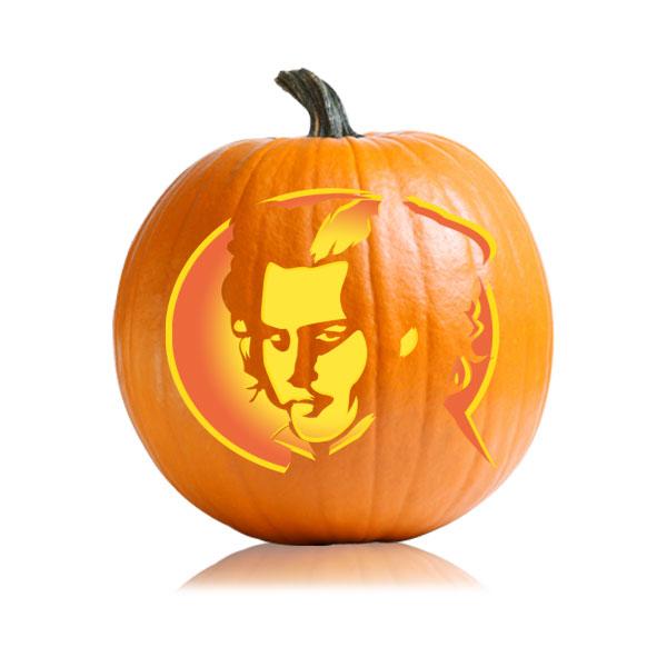 Sweeney Todd Pumpkin Stencil