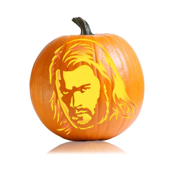Thor Pumpkin Stencil