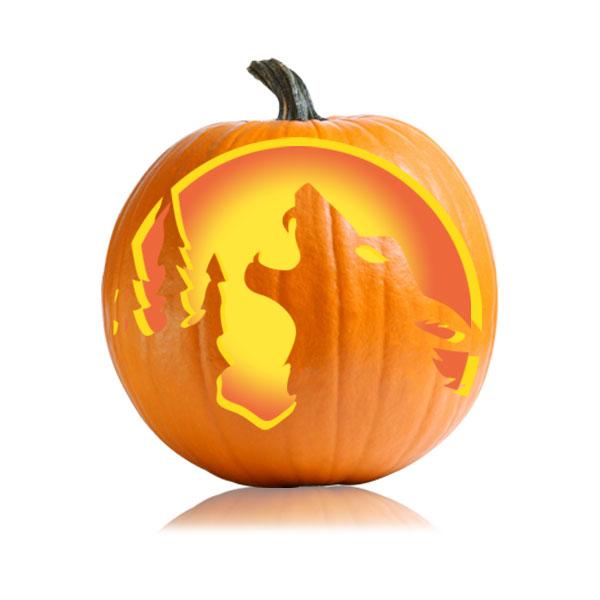 Timberwolf Pumpkin Stencil