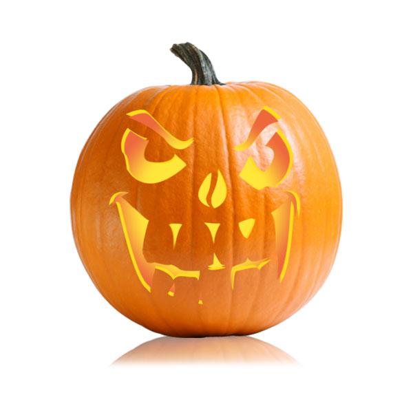 Toothy Jack Pumpkin Stencil