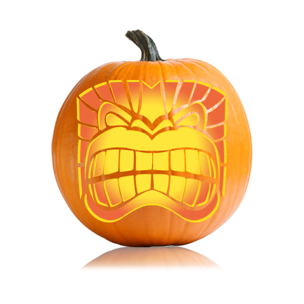Toothy Tiki Pumpkin Stencil