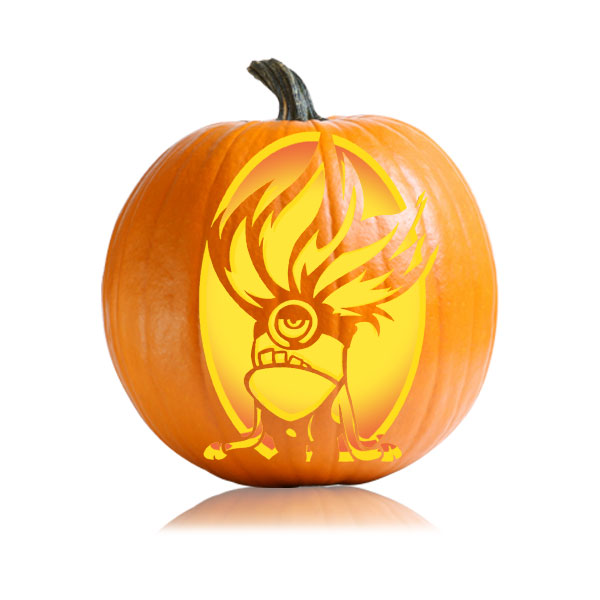 Troll Minion Pumpkin Stencil