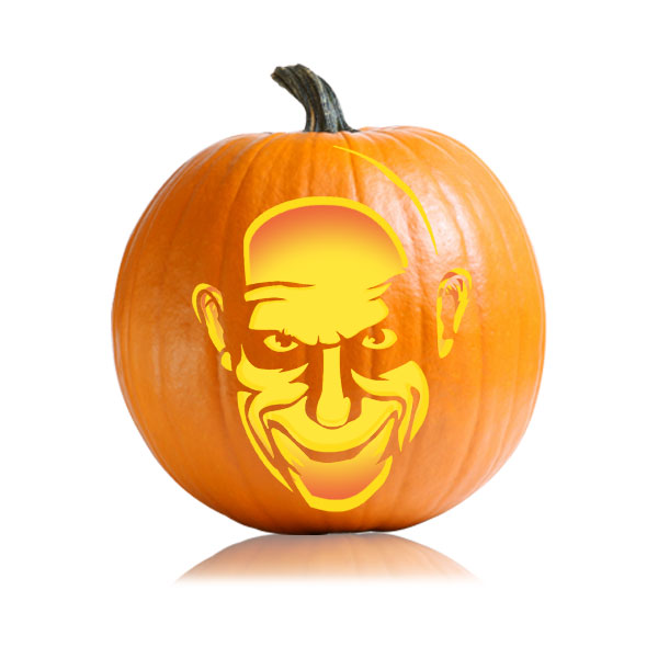 Uncle Fester Pumpkin Carving Pattern