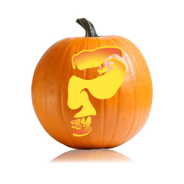 Vampire Pumpkin Stencil