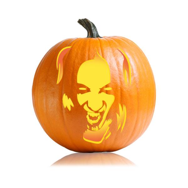 Vampire Girl Pumpkin Stencil