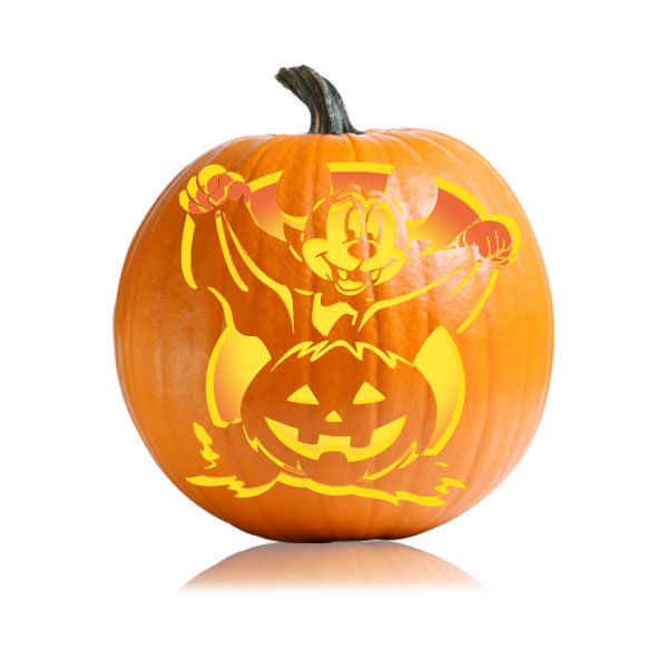 Vampire Mickey Pumpkin Pattern