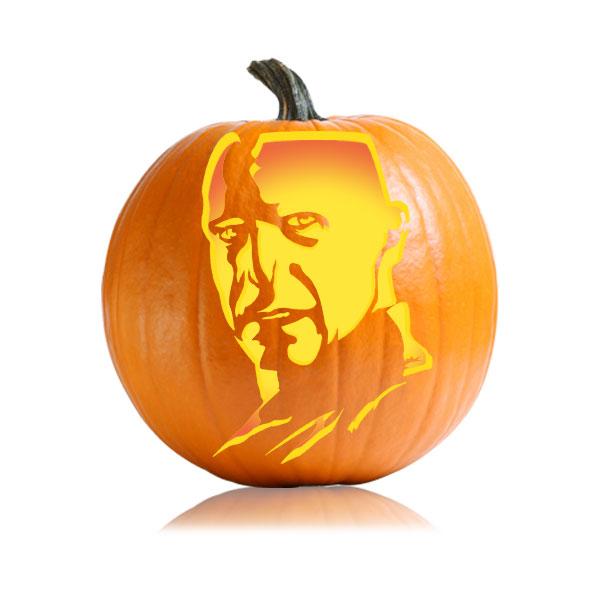 Voldemort Deathly Hallows Pumpkin Stencil
