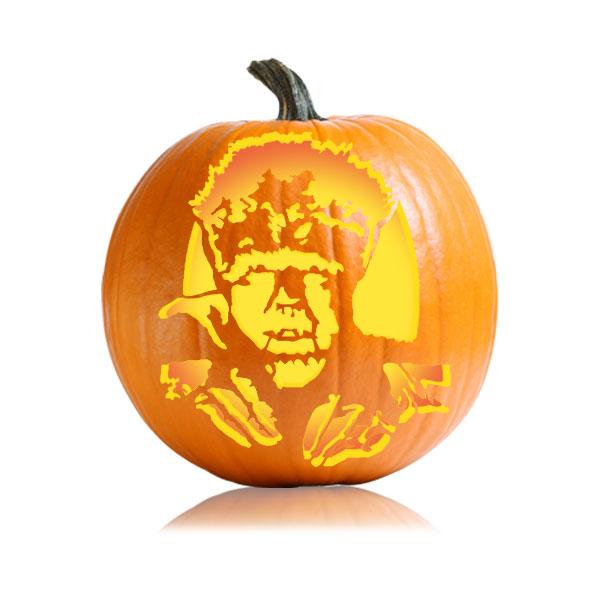 Werewolf Pumpkin Stencil