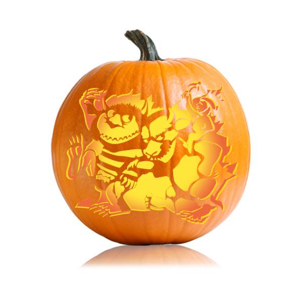 Wild Things Pumpkin Stencil