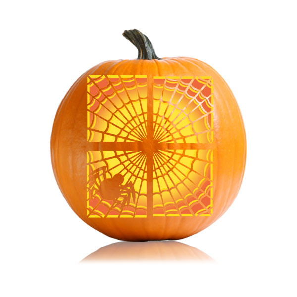 Window Web Pumpkin Stencil