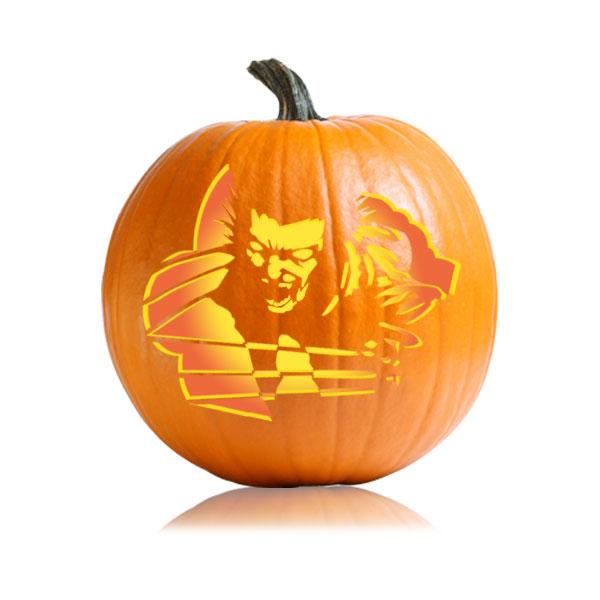 Wolverine Pumpkin Stencil