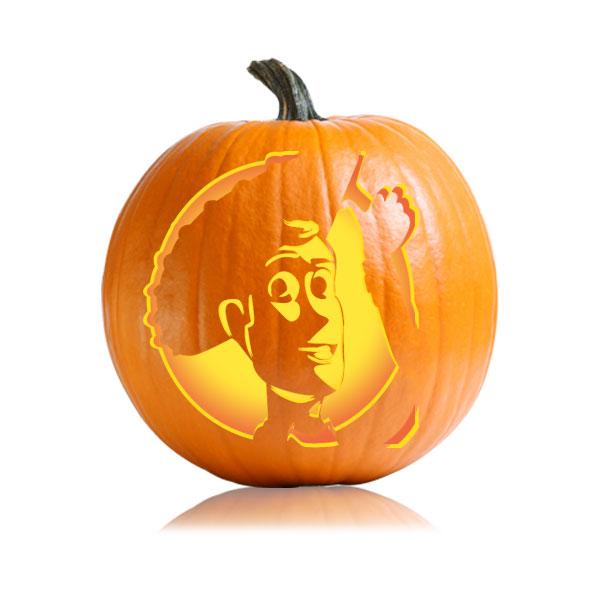 Woody Pumpkin Stencil