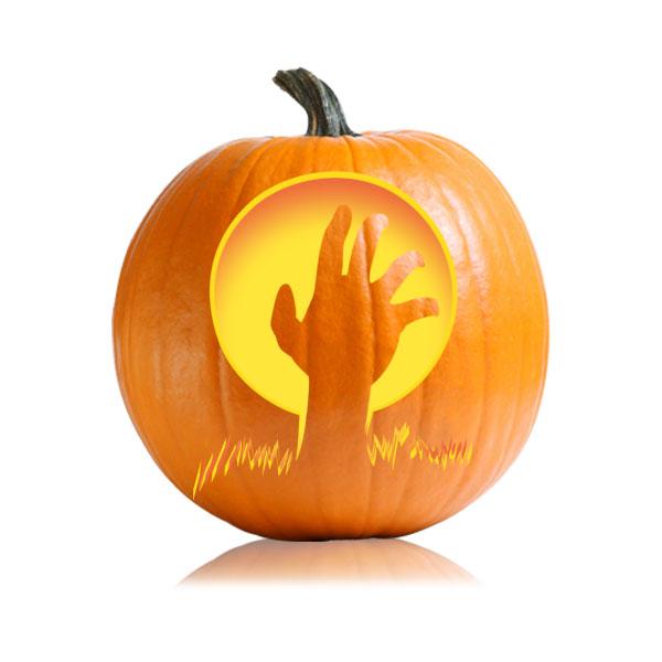 Zombie Hand Pumpkin Stencil
