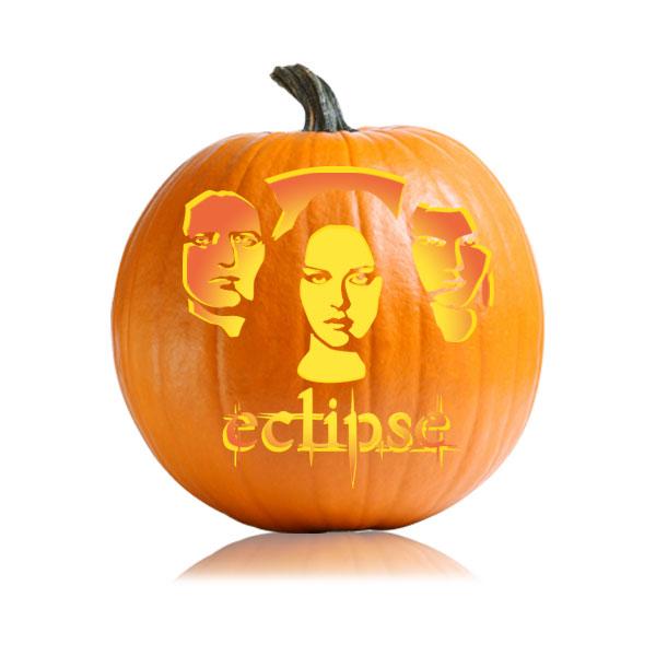 Eclipse Pumpkin Stencil