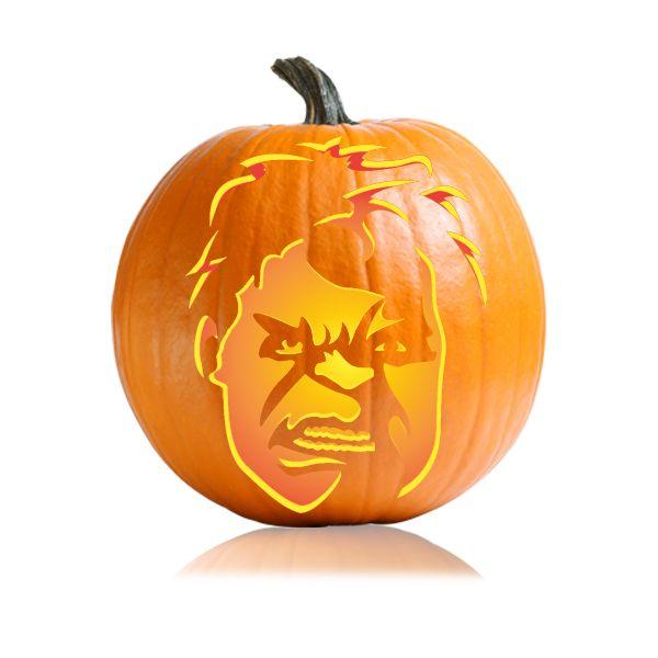 Avengers Hulk Pumpkin Carving Stencil