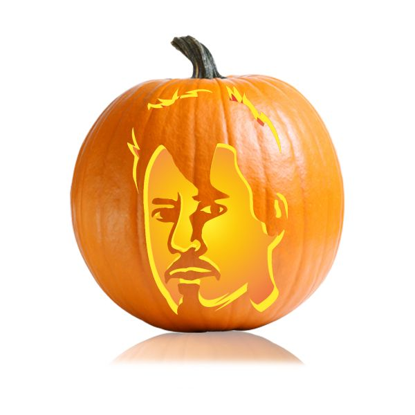 Avengers Tony Stark Pumpkin Carving Stencil