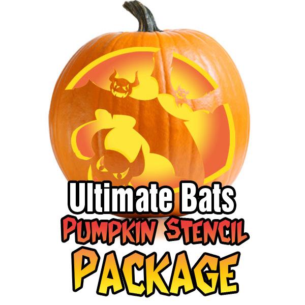 Bat Pumpkin Pattern Package