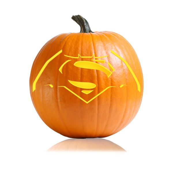 Batman-Superman Pumpkin Carving Stencil