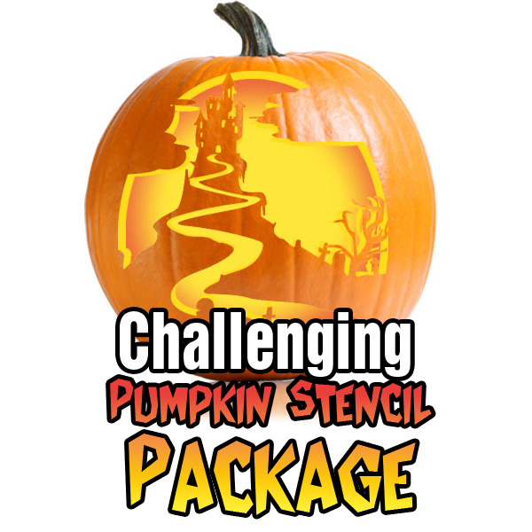 Challenging Pumpkin Carving Stencil Package