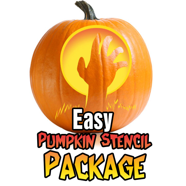 Easy pumpkin carving stencil package ultimate