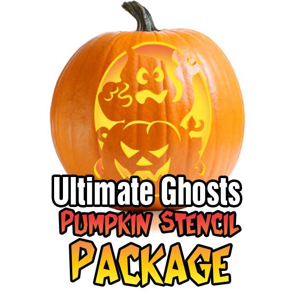 Boo ghost pumpkin stencil ultimate pumpkin stencils ghosts pumpkin carving stencil package maxwellsz