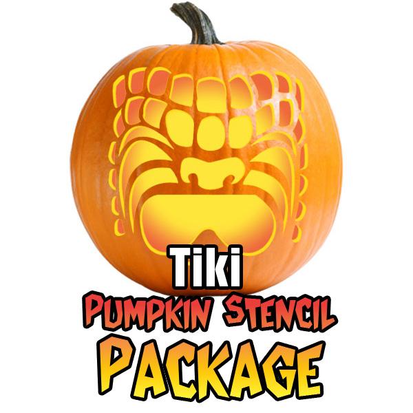 hawaiian tiki stencil package ultimate pumpkin stencils