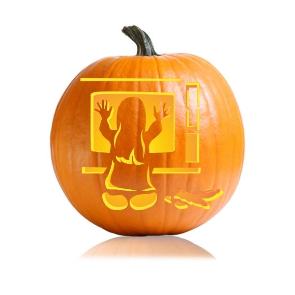 Poltergeist Pumpkin Carving Stencil