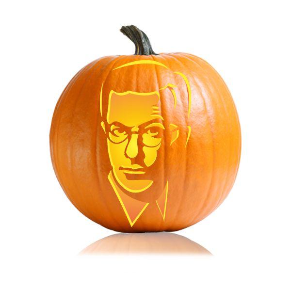 Stephen Colbert Pumpkin Carving Stencil