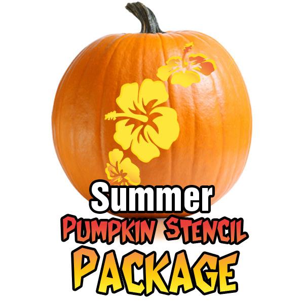Summer stencil package ultimate pumpkin stencils summer stencil package sciox Choice Image