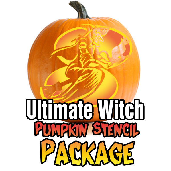 Ultimate Witch Pumpkin Stencil Package