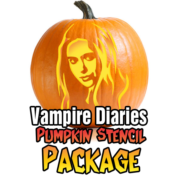 Vampire Diaries Pumpkin Carving Package - Ultimate Pumpkin Stencils