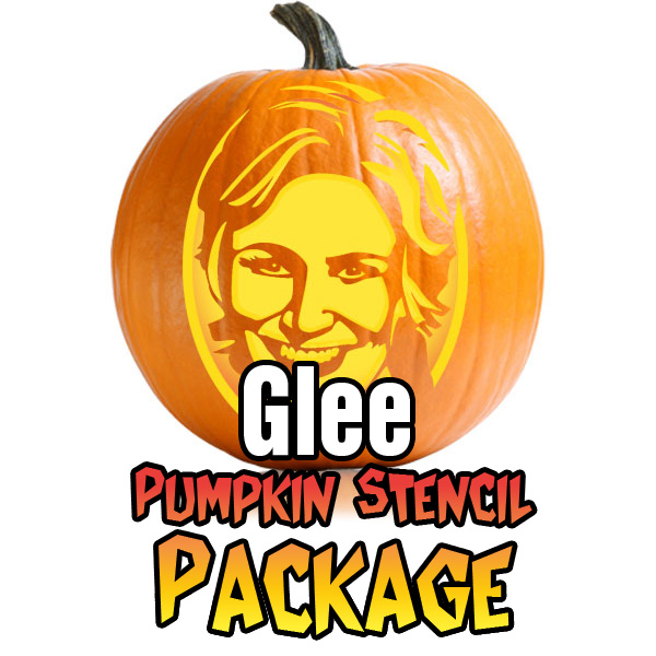 Glee Pumpkin Stencil Package
