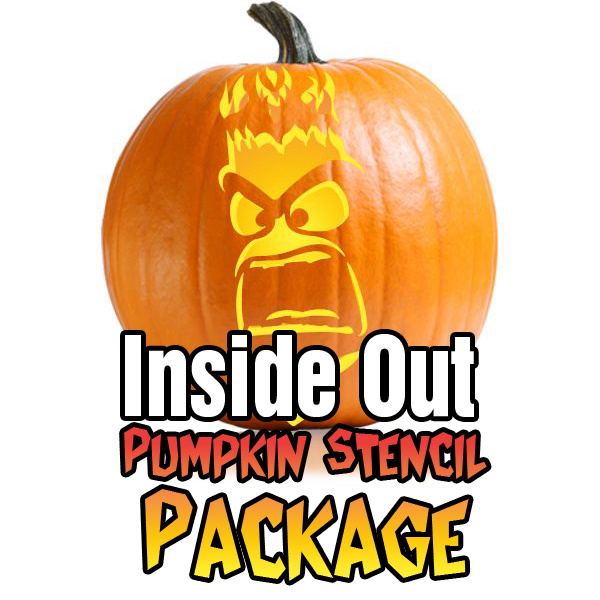 Inside Out Pumpkin Carving Pattern Package