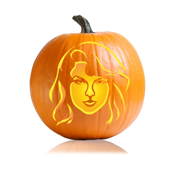 Taylor Swift Pumpkin Carving Stencil