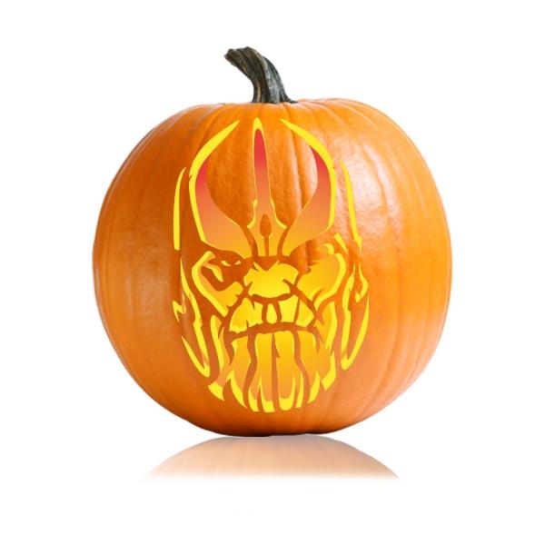 Thanos Pumpkin Carving Stencil
