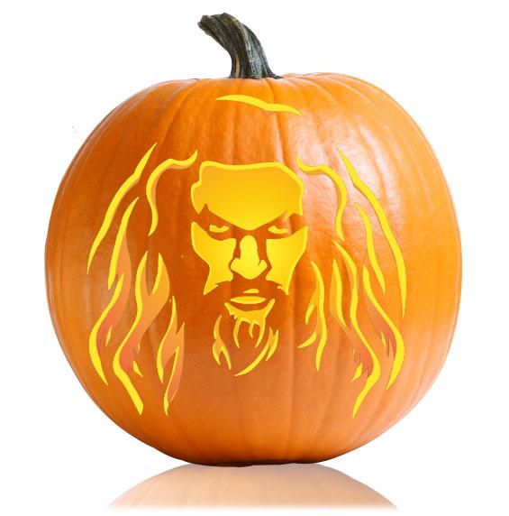 Aquaman Pumpkin Stencil