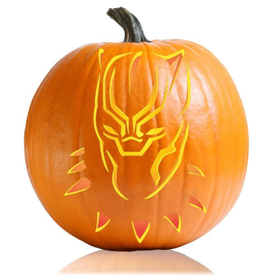 Black Panther Pumpkin Stencil
