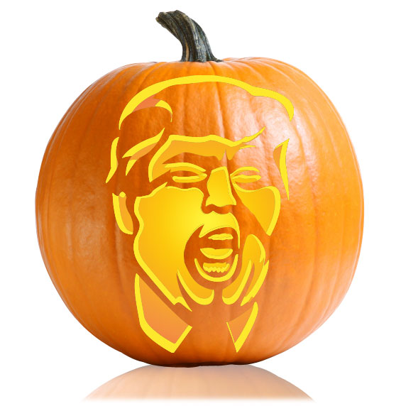 The Donald Pumpkin Stencil