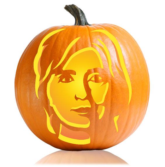 Hillary Clinton Pumpkin Stencil