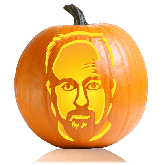 Louis CK Pumpkin Stencil