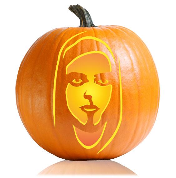 Mr Robot Pumpkin Stencil