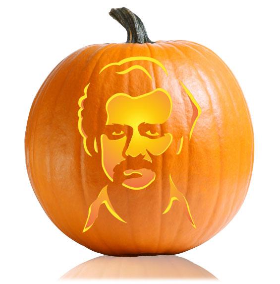 Pablo Escobar Pumpkin Stencil